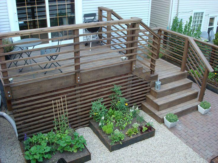 Deck. stairs, urban, landscape, garden, design
