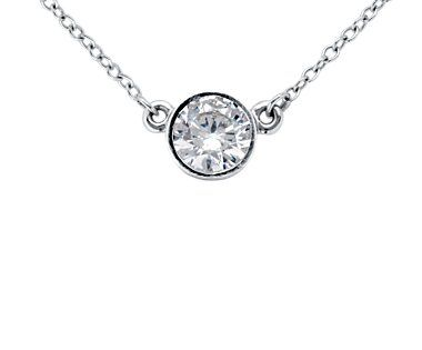 bezel set solitaire diamond necklace. i'm a little too indecisive with necklaces but i'd love to wear this as a bracelet every day