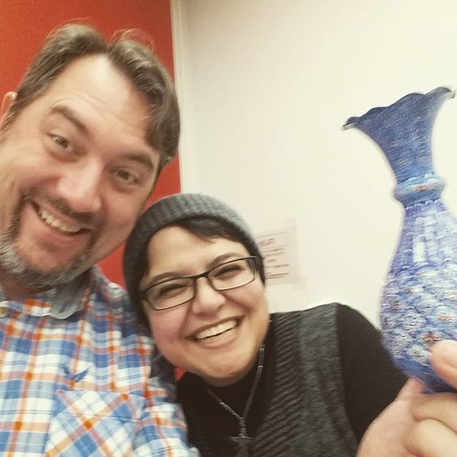 Beautiful persian vase recieved from one of the warmest humans I know.  Thank you @parisamehran #iamnotastereotype #beautifuliran #JALTMAVR