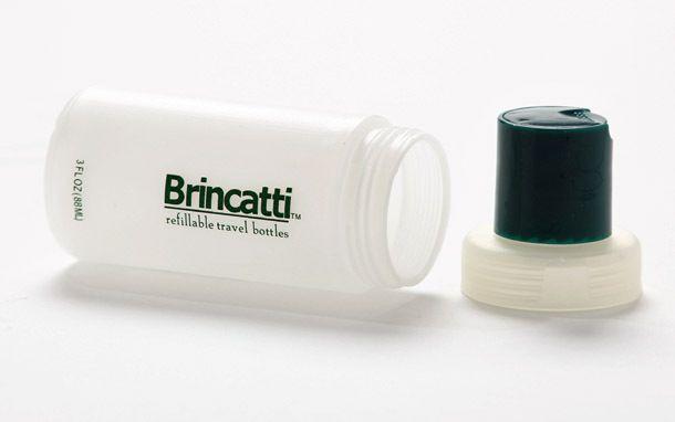 Product Review: Brincatti Refillable Travel Bottles  (SmarterTravel.com 08.09.12 email)