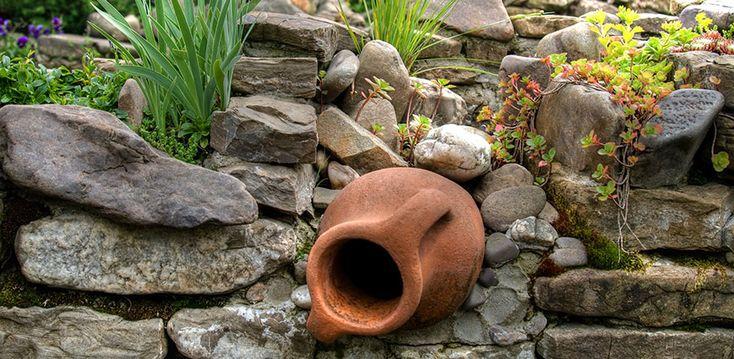 105 besten steingarten bilder auf pinterest gartendekorationen kleine g rten und