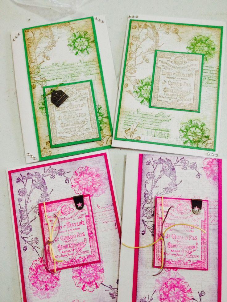 2H1348 Cheryl Devlin's natures spirit cards with different colourways.