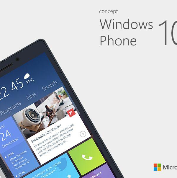 Windows Phone 10 Concept on Behance