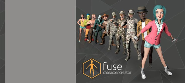 Create, rig and animate your characters with Mixamo!   Fuse is a standalone 3D character creator you can use to quickly and easily build highly customized 3D characters. Watch the Fuse 1.3 Feature Video or check below for the details!    Features: • 200+ Body, Clothing and Accessory Parts  • 280+ Customizable Blendshapes  • 61 Substances from Allegorithmic  • Import your own 3D content • Unlimited auto-rigging* for characters created with Fuse!   *  What is an Auto-Rig? The Auto-Rigger is…