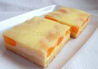 Linecký tvarohový koláč s pudinkem