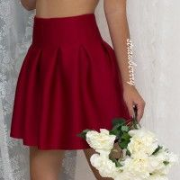 BUBBLE SKIRT IN RED