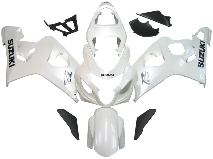 Mad Hornets - Fairings Suzuki GSXR 600 750 White Metallic GSXR Racing  (2004-2005), $469.99 (http://www.madhornets.com/fairings-suzuki-gsxr-600-750-white-metallic-gsxr-racing-2004-2005/)