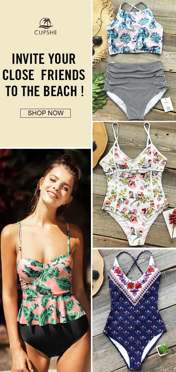 538c2ed321296 Get confidence and beauty at Cupshe.com! Such floral swimsuit is ...