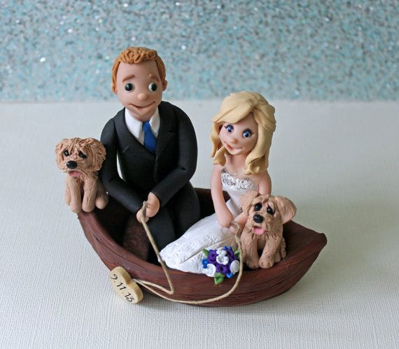 boat wedding cake topper wedding cake topper with fishing boat fisherman 1991