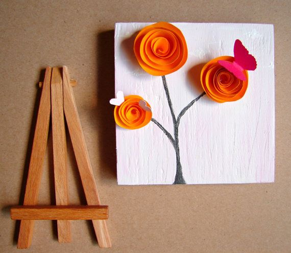 Tangerine Bright Orange Home Decor Office by BendixenArt on Etsy, $36.00