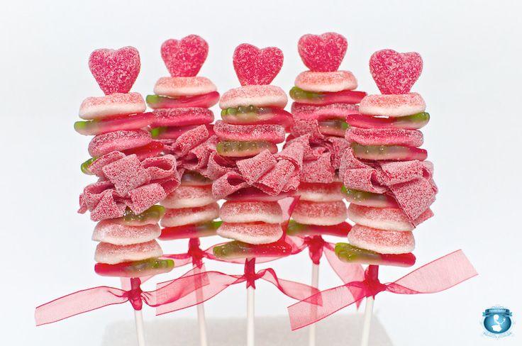 12 Mini Valentine Sweet Skewers. $39.00, via Etsy by Sweets Indeed