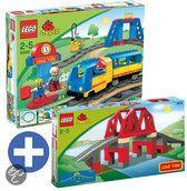 LEGO DUPLO trein bundel: Trein beginset 5608 + Brug 3774