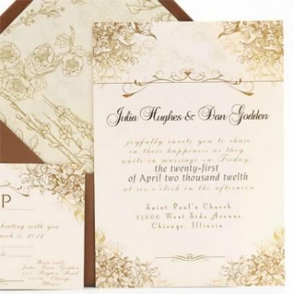 Invitaciones de boda inspiración Vintage [Fotos]