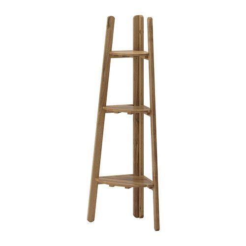 IKEA - ASKHOLMEN, Piédestal, Pour accroître sa résistance et que vous puissiez apprécier l'aspect naturel du bois, ce meuble a été prétraité avec plusieurs couches de teinture pour bois semi-transparente.