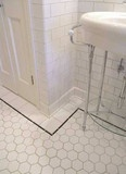 2 inch White Porcelain Hexagon Mosaic Tile