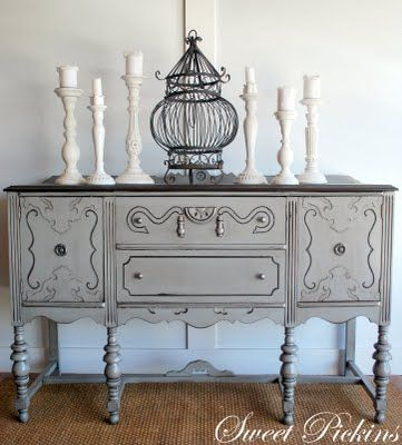 On A Quest For Queen Anne Buffet Similar To This Refinish In Shabby