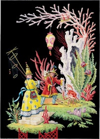 Chinoiserie Chic: CC's Top Ten Chinoiserie Pieces #6: Harrison Howard, Chinoiserie Fabric, Chinoiserie Chic, Chinoiserie Wallpaper, Crab Baiting, Crabs, Art Illustration, Chinoiserie Design