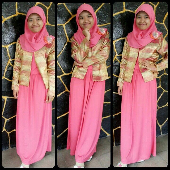 Happy ied mubarak! :D *happy with bright pink dress* #womanfashion