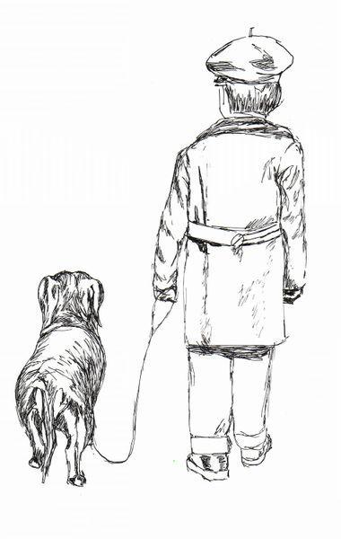 'Kind mit Hund' von Susanne Edele bei artflakes.com als Poster oder Kunstdruck $16.63