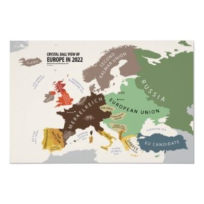 Mapa europeu previst per a 2022.