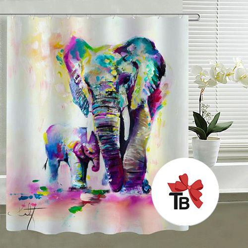 elephant bathroom decor shower curtain