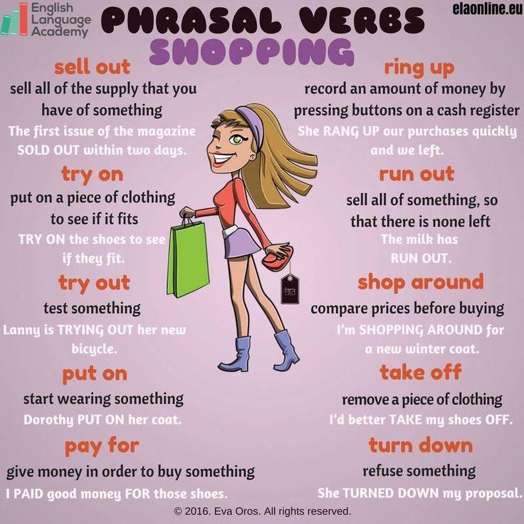 Si  eres de aquellas personas a las que te gusta ir de compras atentas a este vocabulario.