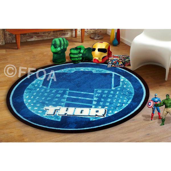 Thor Hammer Avenger Rug For Kids In 100cmx100cm Free