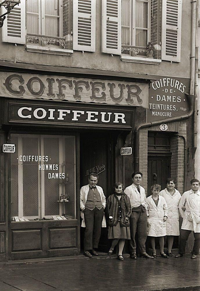 Photo ancien commerce Toulouse Coiffeur Manucure Beauté tirage repro an. 1920
