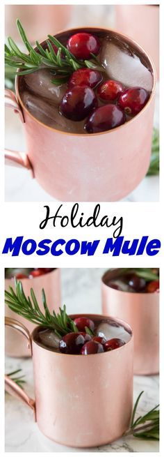 Holiday Moscow Mule – a festive Moscow Mule cocktail that is perfect for all of your holiday entertaining.