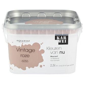KARWEI Kleuren van Nu muurverf mat vintage roze 2, alles voor je klus om je huis & tuin te verfraaien vind je bij KARWEI