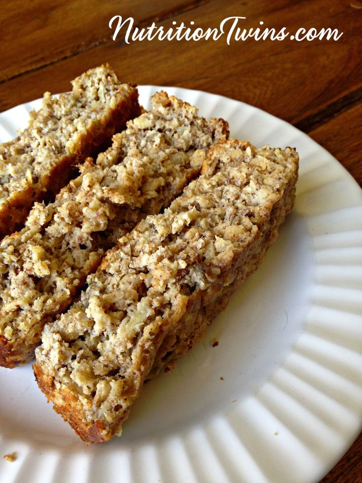 Almond Butter Banana Bread |Only 150 Calories | Satisfying Weight Loss Breakfast that tastes like dessert | Satisfying protein & fiber @Eggland's Best .client | For Nutrition & Fitness Tips & RECIPES please SIGN UP for our FREE NEWSLETTER www.NutritionTwins.com