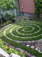 Stone Labyrinth so pretty to add interest to a small area