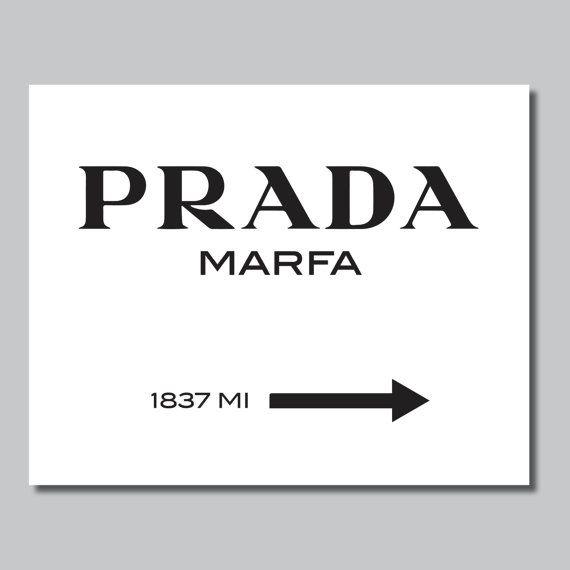 Prada Marfa imprimir Prada Marfa Art Prada por RhondavousDesigns2