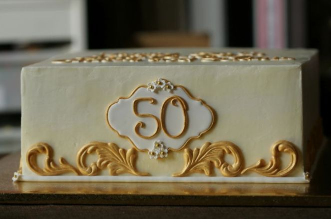 gilded cake: Anymore Wedding Cakes, Cakes Ideas, Anniversaries Ideas, Wedding Ideas, 50Th Anniversaries, Anymorew Cakes, Anniversaries Cakes, Cakes Anymore Wedding, 50Th Wedding Anniversaries
