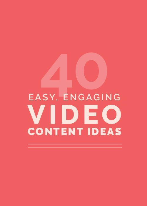 Another element of visual marketing? Videos! Giving you 40 content ideas on the blog today