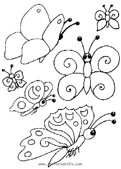 modle windows color coloriage papillon