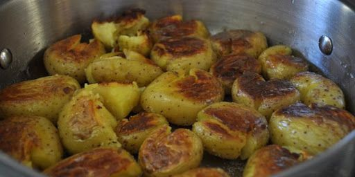 Smashed New Potatoes With Butter And Chives | The Mother Huddle