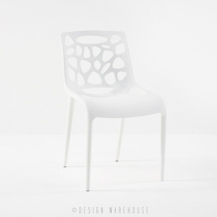 Lace Cafe Dining Chair (White) | Design Warehouse NZ