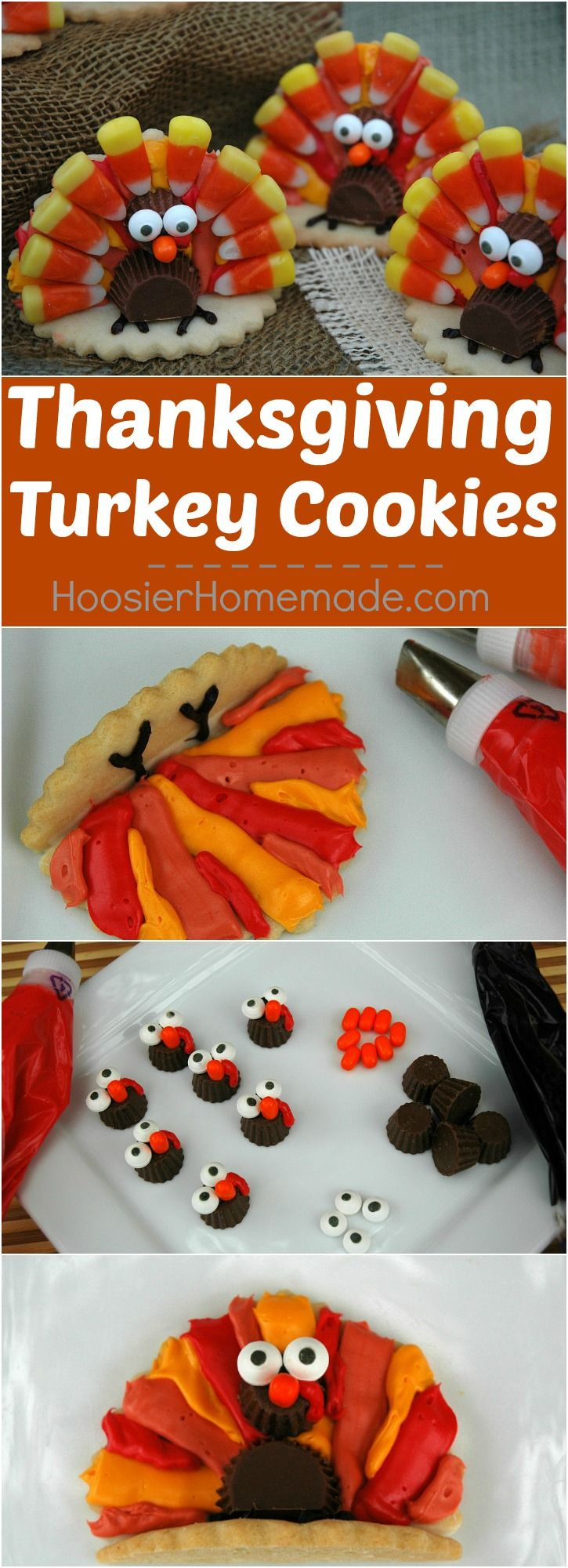 Almond Sugar Cookies Recipe Thanksgiving Turkey