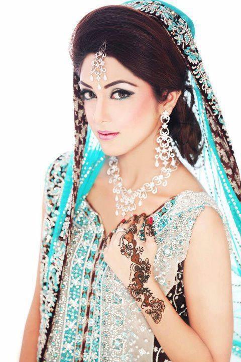 Mehndi Dulhan Makeup : Dulhan indian pakistani bollywood bride desi wedding
