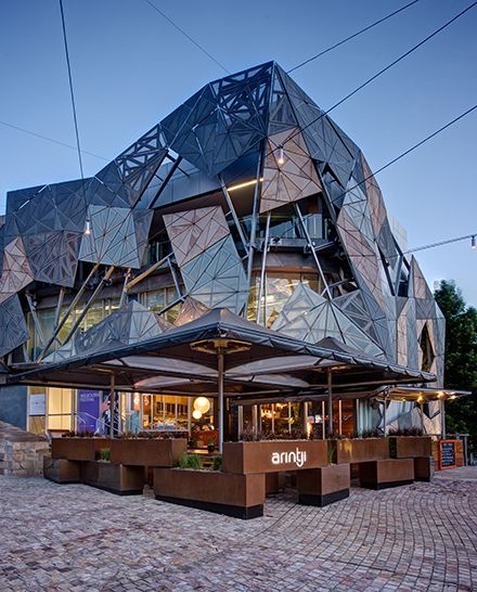 Arintji in Federation Square in Melbourne, Australia by SJB Architects