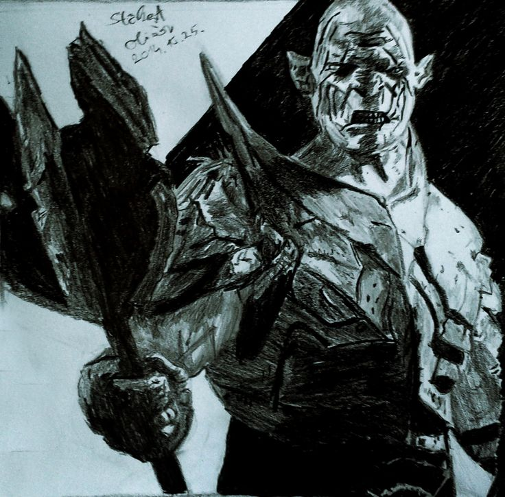 Azog #azog #hobbit #thehobbit #lotr #lordoftherings #draw #drawing #pencil #pencildrawing #blackandwhite #graphite #graphic #illustration #fantasy #j.r.r.tolkien #tolkien
