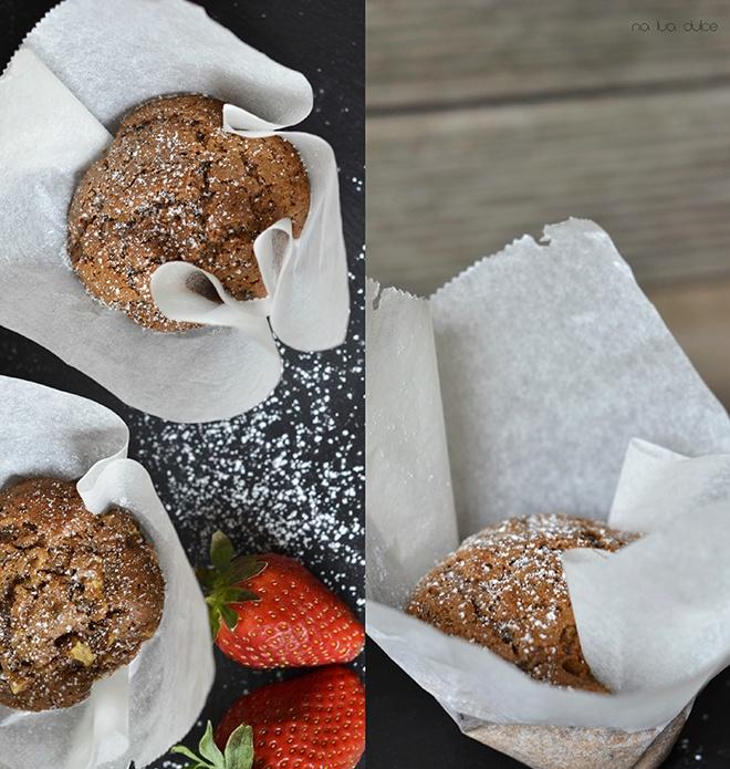 Muffins de galleta, chocolate y manzana