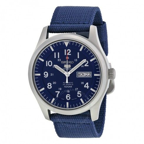 Seiko 5 Sport Automatic Navy Blue Canvas Men's Watch SNZG11 - Seiko 5 - Seiko - Watches  - Jomashop