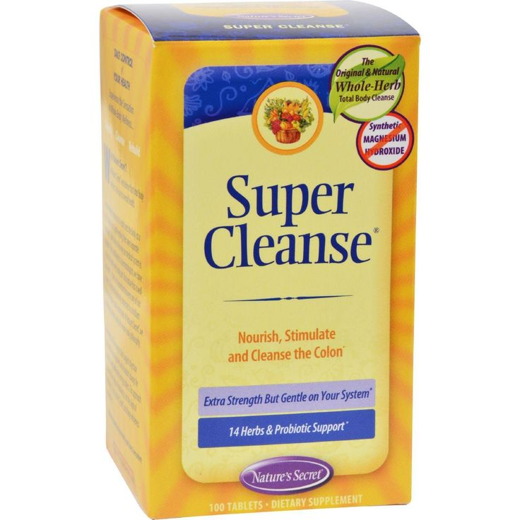 Nature's Secret Super Cleanse - 100 Tablets