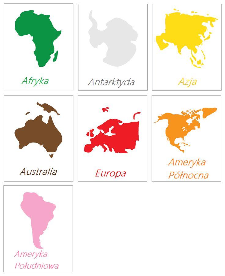 Kontynenty i ich wielkość - Montessori - MĄDRE DZIECI