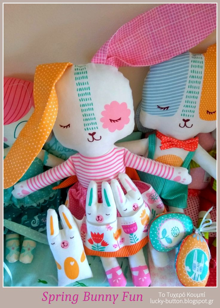 Spring Bunny Fun, Πάνινα λαγουδάκια κουκλάκια
