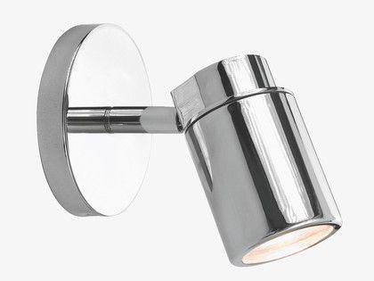 COMO SILVER Metal Chrome single bathroom spotlight - HabitatUK