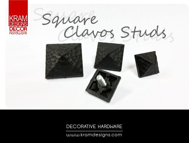 Square Clavo Collection from Kram Designs Decor Hardware. www.kramdesigns.co.za