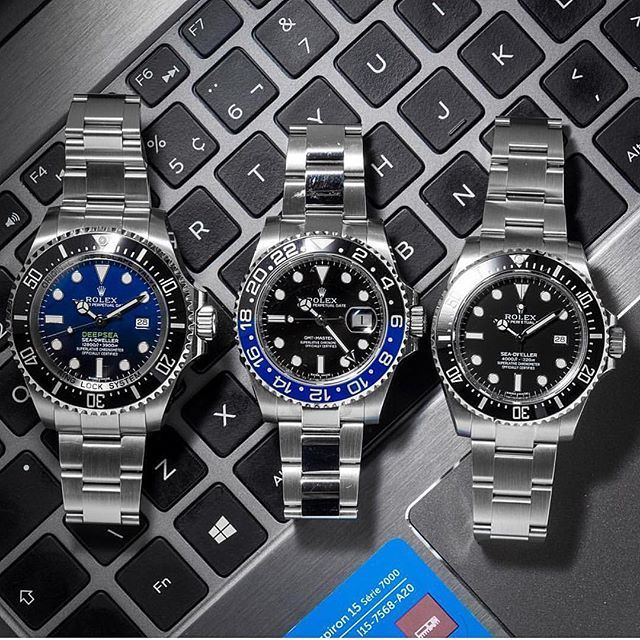 Stunning trio by @vip_watch_brasil  Which one would you take? . #watchobsession #rolexero #seadweller #submariner #watchporn #horology #watchanish #watches #rolex #motivation #style #watchaddict #watchanish #watchfy #watchesofinstagram #luxurycars #luxurious #luxuryhomes #supercar #watchcollector #gmt #submariner #watch_obsession #success #breitling #neofashion #rolexwrist #dailywatch #panerai - posted by Watch Obsession https://www.instagram.com/watch_obsession - See more Luxury Real Estate…